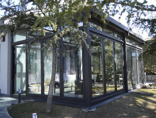 Lucernario fabricado e instalado por nuestro equipo en tres tipos de aluminio.