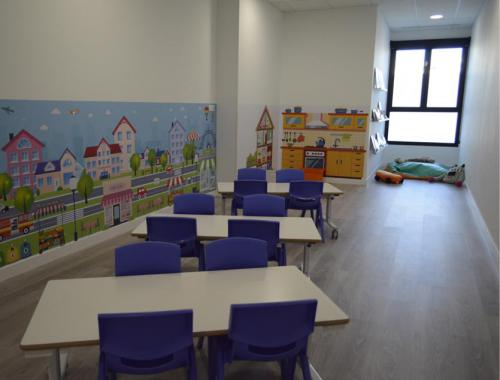 Aula multiusos de la Escuela Infantil Projardin Valdebebas implantada por Afandecor.